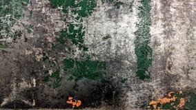 Stary zieleni i pomarańcze pasiasty stalowy prześcieradło ilustracja wektor