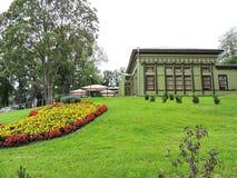 Stary zielony dom, Lithuania Obrazy Royalty Free