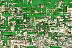 Stary Zielony Drewniany Ścienny tło Zdjęcie Royalty Free