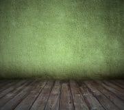 Stary zielony pokój z betonową ścianą Zdjęcie Royalty Free