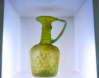 Stary zielony słój w szkle i Ceramicznym muzeum Teheran, Iran Zdjęcia Stock