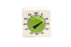 Stary zielony zegar Obrazy Stock