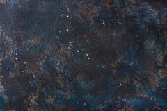 Stary zmrok - błękit malował sklejkową teksturę, tapetę i tło, Obrazy Stock