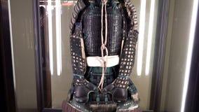 Starych collectible japończyka Nomura samurajów rodzinna zbroja przy Ke samurajów domem, Kanazawa zbiory wideo