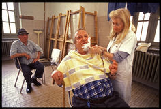 1992 Starych fotografii Psychiatic szpital Obraz Royalty Free