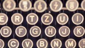 Starych maszyna do pisania kluczy Zamknięty Up Zdjęcie Stock
