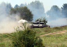 Starytchi Ukraina - September 6, 2018 Militärövningar med royaltyfri fotografi