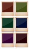 Starzeć się i Kolorowe polaroid fotografie Zdjęcia Royalty Free