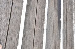 Starzeć się wzory drewno z pełnią i gwoździami Fotografia Stock