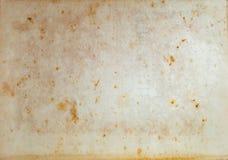Starze? si?, by?em ubranym papier z wod plamami i szorstkie kraw?dzie, zdjęcie stock