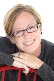 starzejąca się środkowa kobieta Obraz Stock