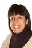 starzejąca się środkowa uśmiechnięta kobieta Zdjęcia Stock