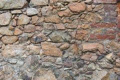 Starzejąca się ceglana i kamienna ściana Fotografia Stock