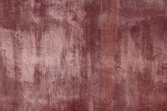 starzejąca się cementowej grunge farby czerwona tekstury ściana Obrazy Stock