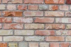 Starzejąca się czerwona ściana z cegieł tekstura Fotografia Royalty Free