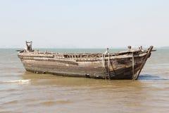 Starzejąca się drewniana łódź Fotografia Royalty Free