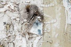 Starzejąca się drzejąca papierowa plakatowa grunge tekstura Fotografia Stock