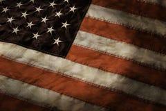 Starzejąca się flaga Stany Zjednoczone Obraz Stock
