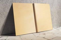 Starzejąca się hardcover dzienniczka strona Zdjęcie Royalty Free