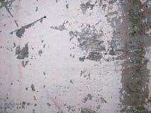 Starzejąca się i gnijąca metal powierzchnia w bielu i siwieje Zdjęcia Royalty Free