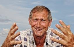 starzejąca się męska środkowa osoba Obraz Royalty Free