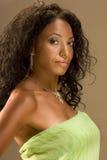 starzejąca się piękna etniczna środkowa portreta kobieta Obraz Royalty Free