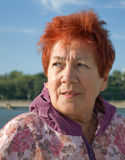 starzejąca się sangwiniczna wolowa kobieta Obrazy Stock