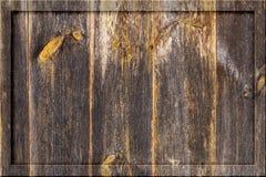 Starzejąca się starego ciemnego drewnianego szalunek deski ściany tła billboardu pusta deska Fotografia Royalty Free