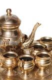 starzejąca się złota ustalona herbata Fotografia Royalty Free