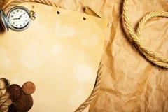 starzejący się antyka papieru zegarek Zdjęcie Royalty Free