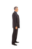 starzejący się biznesowego mężczyzna środka profil zdjęcie stock