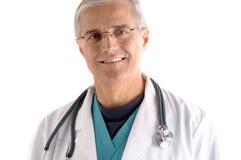 starzejący się doktorski środkowy portret Fotografia Stock