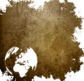 Starzejący się Europa mapy rocznik Fotografia Stock