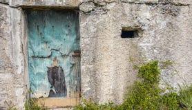 Starzejący się fantazi rocznik Przerastający drzwi Fotografia Royalty Free