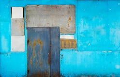 Starzejący się grunge textured plenerowy ścienny tło obrazy stock