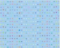 Starzejący się i będący ubranym papier z polek gwiazdami I także zawiera EPS 10 Obraz Stock