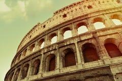 Starzejący się kolosseum Rome obraz stock