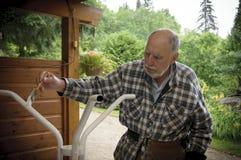 Starzejący się starszego mężczyzna obraz Obraz Stock
