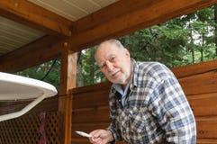 Starzejący się starszego mężczyzna obraz Fotografia Stock