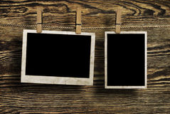 starzejący się tło obramia fotografii drewno Fotografia Stock