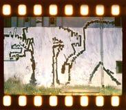 Starzejący się ulicy ściany tło. Ekranowy pasek Obraz Stock