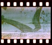 Starzejący się ulicy ściany tło. Ekranowy pasek Fotografia Stock