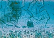 Starzejący się ulicy ściany tło. Ekranowy pasek Zdjęcia Stock