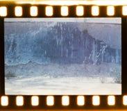 Starzejący się ulicy ściany tło. Ekranowy pasek Zdjęcie Royalty Free