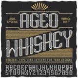 Starzejący się whisky rocznika etykietki plakat Zdjęcia Stock