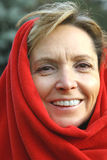 starzenie się centralna kobieta uśmiechnięta Zdjęcie Royalty Free