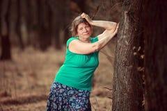 starzenie się piękna kobieta centralna Zdjęcie Royalty Free