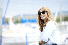 starzenie się szczęśliwa kobieta centralna Zdjęcie Royalty Free