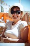 starzenie się szczęśliwa kobieta centralna Obrazy Stock
