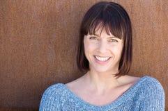 starzenie się szczęśliwa kobieta centralna Fotografia Stock